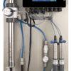 Online water monitoring NTU/FTU, NO3, TOC, DOC, pH, EC, Temp, one disinfection parameter (1 free sensorspace), Alarms