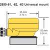 Conductivity Electronics Universal mount dimensions