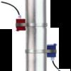 Ultrasonic sensor for FLO100 installed on pipe